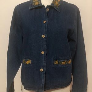 ✅ 3 for $15 ✅ NWT April Cornell blue jean jacket
